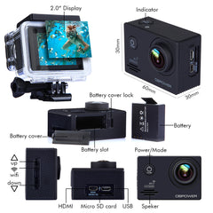 DBPOWER EX5000 WiFi 1080P Waterproof Action Camera