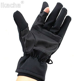 Black Camera Shooting Glove