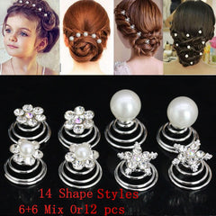 Women Scrunchy Twist Hairpins Wedding Hair Ornament Barrette Headbands Bridal
