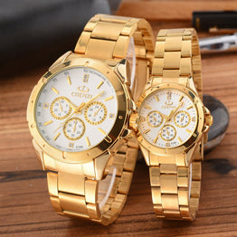 CHENXI Gold Watch Men Women Watches