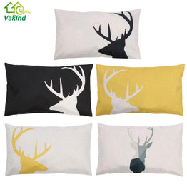 Creative Deer Pattern Pillowcase Cotton linen 30 x 50cm