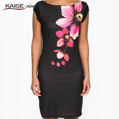 Tropical Floral New Women's Fashion Personality Summer Dress 1239