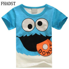 New Summer Fashion Boys T-Shirts Children Cotton Girls Clothes Baby Short Sleeves Character