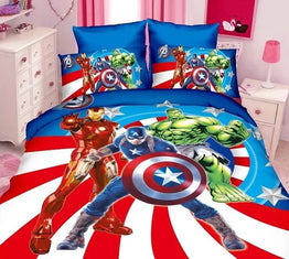 The Avengers cartoon bedding sets for Boys bedroom
