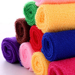 Square Luxury Soft Microfiber Cotton Hand Face Towel 25*25cm 10 Pcs
