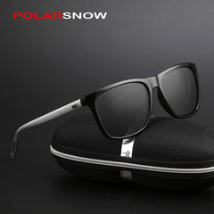 Aluminum POLARSNOW Men Polarized Brand Designer Points Women/Men Vintage Eyewear