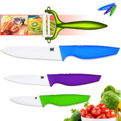 XYJ Ceramic knives paring utility slicing kitchen cooking knives 4 pcs knife set