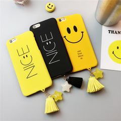 Smile Nice Face Matte Hard PC Plastic Back Case for iPhone 6 6s 7 Plus
