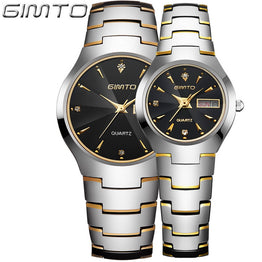 GIMTO Fashion Tungsten Steel Men Women Quartz Watch