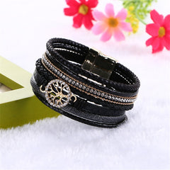 Magnetic Buckle Wrap Leather Bracelets for Women