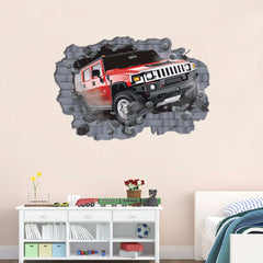 Super big large 3D car wall sticker home bedroom decor