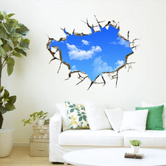 Blue Sky White Clouds Wall Stickers Creative Landscape Wall Decals