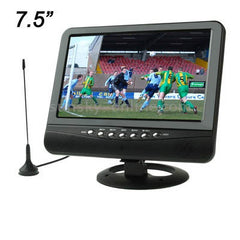 TFT LCD 7.5 inch Color Analog TV with Wide View Angle USB Flash Disk