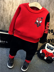 Autumn Winter Design Long Sleeves and Pant Set for Boys