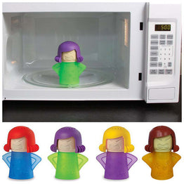 Microwave Cleaning Angry Mom Oven Steam Cleaner Disinfects With Vinegar and Water