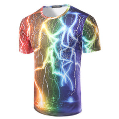 3D Printed T-Shirts  fashion men tops & tees fitness tshirt Casual