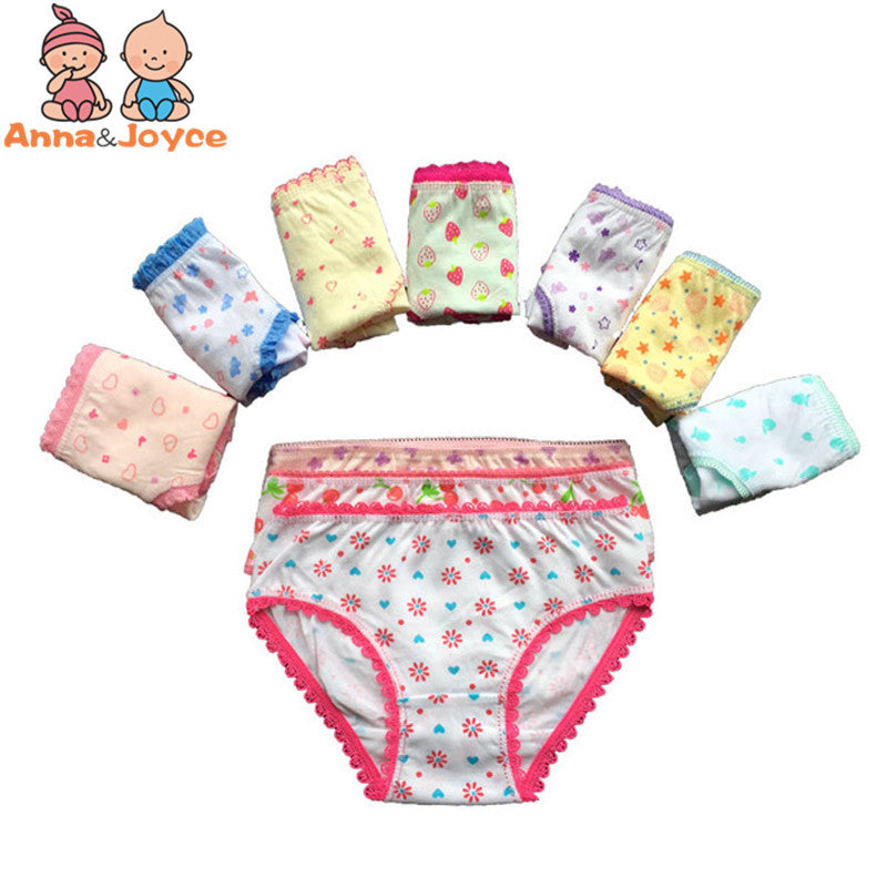 3 pcs. infant kids young ladies cotton underwear short vivid undies