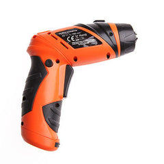 6V Portable Electric Drill Screwdriver Cordless Wireless +Screw Battery Operated
