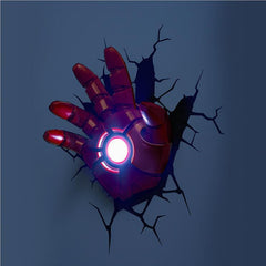 Avengers Alliance Iron Man 3D Led  Night Light Wall Lamp For All rooms 1 Set
