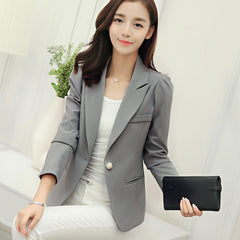 Spring And Autumn Fashion Women 7 Colors Slim Fit Jackets Long Sleeve Feminino Ladies Blazers