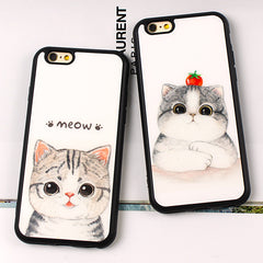 Cute Cartoon Soft Silicon Case Cover For iphone 6 6S 4.7 6 Plus 6s plus 5.5 inch SE 5 5S