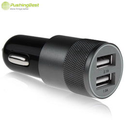 Dual car usb charger Metal Aluminum 2.1A Universal Car charger