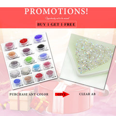 Micro pixie rhinestone Buy 1 Get 1 Free Crystal 3D Nail 1.3mm Nail Decoration DIY nail art 1440pcs/pack