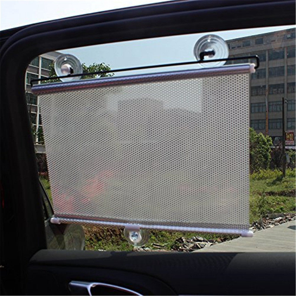 Auto Retractable Silver Car Curtain Front/Side Window Shade Windshield Sun Shade