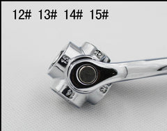 Multi-function 8 in1 socket wrench metric six corner sleeve tool universal