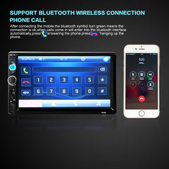 Bluetooth 7'' HD 1080P 2 Din MP5 Car Radio Player 45Wx 4 Car Stereo Touch Screen