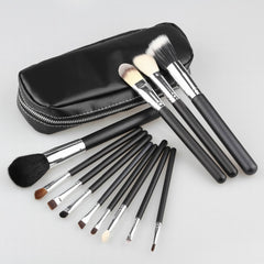 Professional 12pcs Goat Hair Makeup Brushes Cosmetic Make Up Set