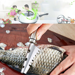 Fish Skin Knife Scales Remover Stainless Steel Fast Cleaner Scraping Scales