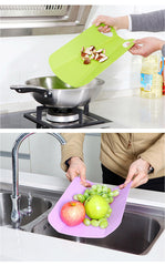 Cutting Board Rolling The Panel Anti-skid Antibacterial Foldable Kitchen Bar Tool Plastic