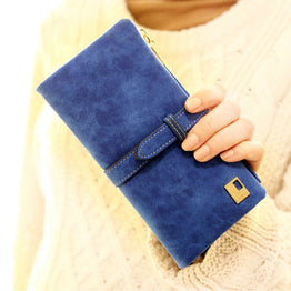 Designer Portfolio Mini Zipper Leather Wallet for Women