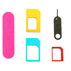 5 in 1 Nano Sim Card Adapters for iPhones