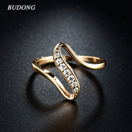Gold Plated Cubic Zirconia CZ Vintage Engagement / Wedding Ring for Women