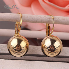 Gold plated Spherical Ball Fashion Earrings for Women
