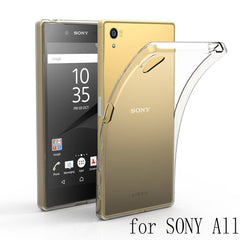 Flexible Transparent back cover Phone Case For Sony Xperia