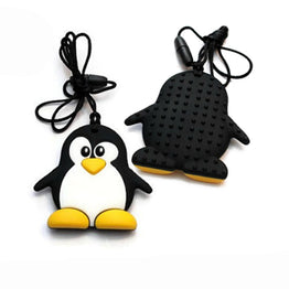 Fashion Cartoon Penguin Silicone Teether Funny Baby Toy Safe For Baby