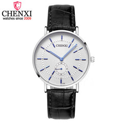 Men Luxury Famous Wristwatch Leather strap Quartz Watch