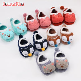 Coral Wool Cartoon Baby Socks Soft Animal Pattern Boys Girls
