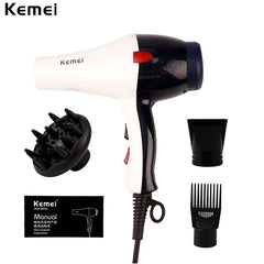 Kemei 2000W fast drying and styling Ionic Hair Dryer Heat&Speed for Hair Styling
