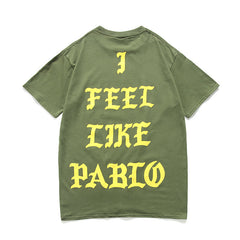West T-shirts New York I Feel Like Pablo Men Women Cotton Hip Hop T-shirt