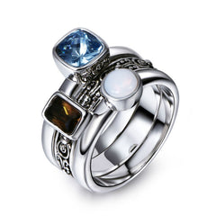 Classical Vintage Rings For Women & Men Cubic Zirconia