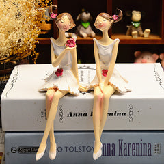 Flower Fairy Doll Model Home Desktop Statue Decoration Figurines Gift for Girl Figures 2pcs