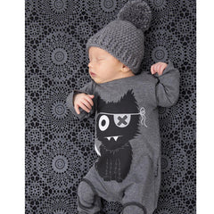 Baby Boy Cartoon Design Long Sleeve Newborn Jumpsuit