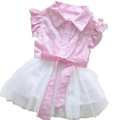 Newborn bebe dress summer cotton+lace beautiful dresses for baby Girl