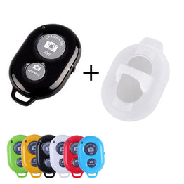 Shutter Bluetooth Remote Control Stick 1set Monopod Button Self timer + Protective Silicone Case