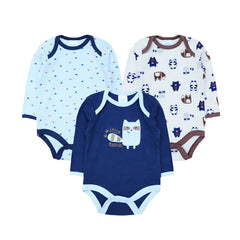3pcs Cotton Long Sleeve Winter Baby Rompers for Newborn