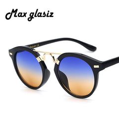 Round Sunglasses Fashion Unique Color Glasses Women Vintage Designer UV400